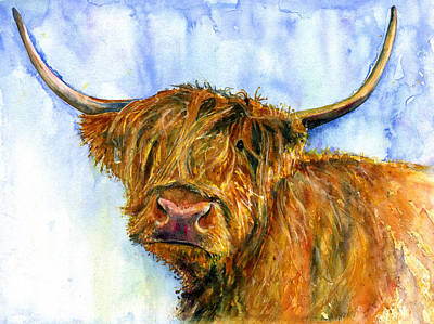 Painting - Hairy Coo 3 by John D Benson