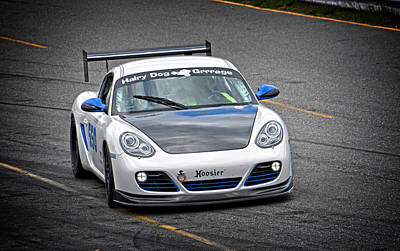 Photograph - Hairy Dog Garrrage - Porsche - Pit Lane by Mike Martin