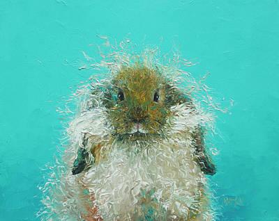 Rabbits Painting - Hairy Rabbit by Jan Matson