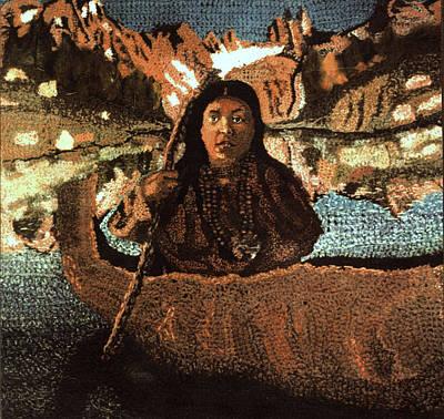 Canoe Mixed Media - Haite Tom Tapestry by Paul Lee