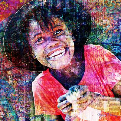 Haiti Digital Art - Haitian Daughter by Barbara Berney