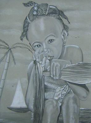 Haitian Drawing - Haitian Girl by Neg Ayiti