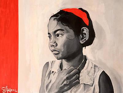 Haitian Painting - Haitian Girl by Sarah LaRose Kane