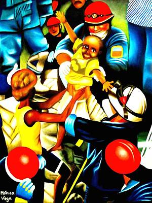 Haitian Painting - Haitian Hope   by Monica  Vega
