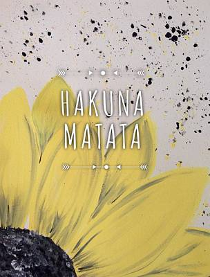 Sunflowers Wall Art - Photograph - Hakuna Matata by Annie Walczyk
