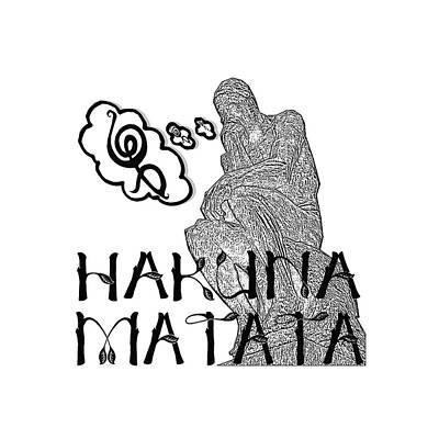 Buy Tshirts Digital Art - Hakuna Matata by Gaby Veganmaniac