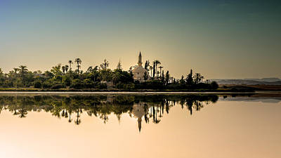 Salt Lake Temple Wall Art - Photograph - Hala Sultan Tekke  by Stelios Kleanthous