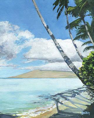 Haleiwa Painting - Halama Street Palms by Stacy Vosberg