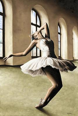 Ballerina Artwork Painting - Halcyon Ballerina by Richard Young