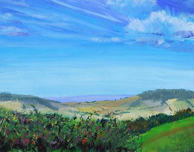 Painting - Haldon Hills Sea View by Mike Jory