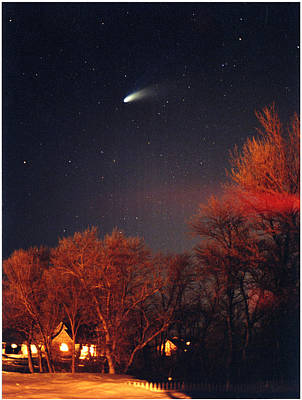 Hale-bopp Comet Original by Nancy Mueller