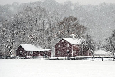 Photograph - Hale Farm In Winter by Ann Bridges