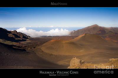 Haleakal Volcanic Cones - Maui Hawaii Posters Series Art Print by Denis Dore