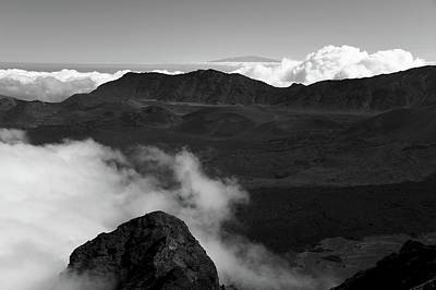 Photograph - Haleakala B/w by Jennifer Ancker
