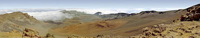 Haleakala Crater Panorama Art Print by Peter J Sucy