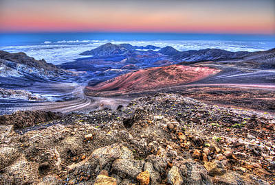 Photograph - Haleakala Crater Sunset Maui II by Shawn Everhart