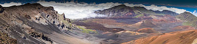 Fantasy Royalty-Free and Rights-Managed Images - Haleakala Craters Pano by Janis Knight