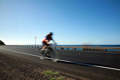 Haleakala Highway Bike Ride Art Print by Michael Ledray