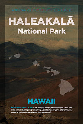 Haleakala National Park In Hawaii Travel Poster Series Of National Parks Number 29 Art Print