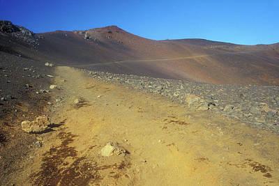 Photograph - Haleakala Sliding Sands Trail In Volcano by John Burk