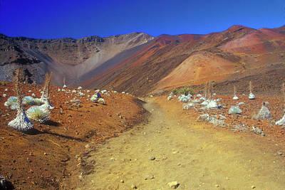 Photograph - Haleakala Sliding Sands Volcano Trail Silverswords by John Burk