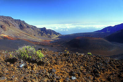 Photograph - Haleakala Volcano Crater by John Burk