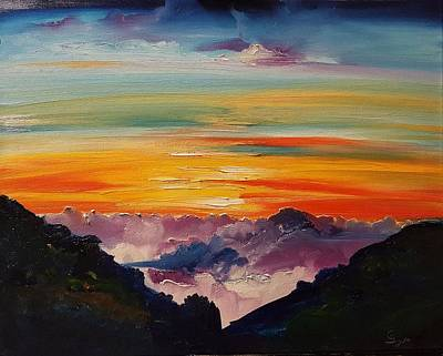 Haleakala Volcano Sunrise In Maui      101 Art Print