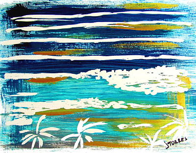 Haleiwa Mixed Media - Haleiwa Gold Lines by Jill Torres