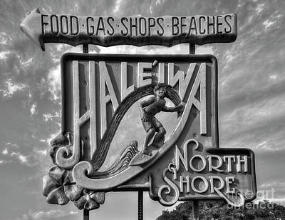Photograph - Haleiwa North Shore Signage Hawaii Collection Art by Reid Callaway
