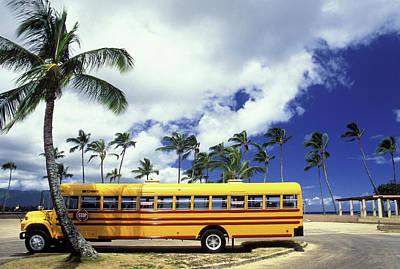 Haleiwa School Bus Art Print
