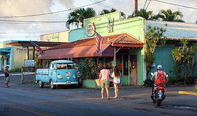 Photograph - Hale'iwa Shops by Geoffrey Lewis