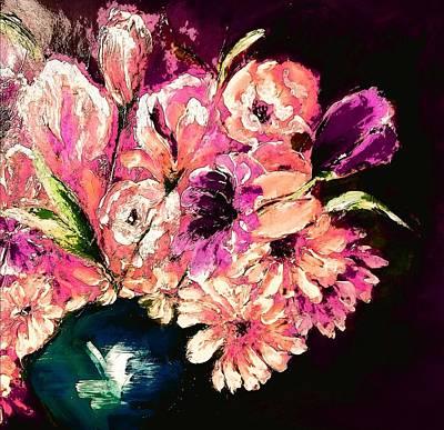Digital Art - Half A Bouquet On Black By Lisa Kaiser by Lisa Kaiser
