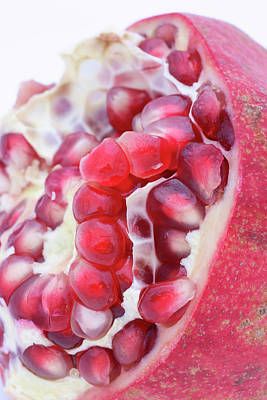 Half A Pomegranate Art Print by Frank Tschakert
