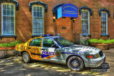 Art Print featuring the photograph Half And Half What Is It Manna Savannah Georgia Police Art by Reid Callaway