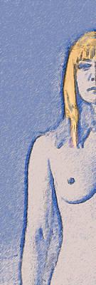 Photograph - Half Blond Sketch by C H Apperson