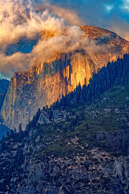 Photograph - Half Dome Ablaze by Rick Berk
