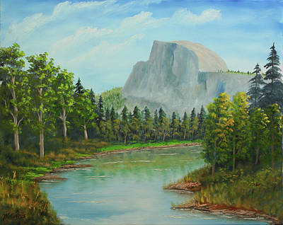 Half Dome Painting - Half Dome Afternoon by William Williams