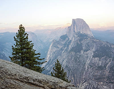 Photograph - Half Dome Alpenglow by Angie Schutt