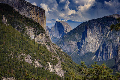 Half Dome And El Capitan Art Print
