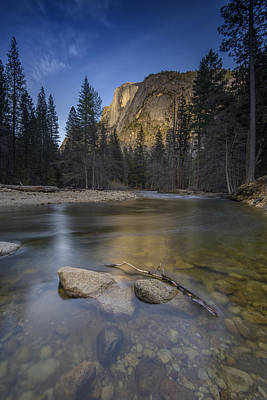 Photograph - Half Dome And The Merced by Rick Berk