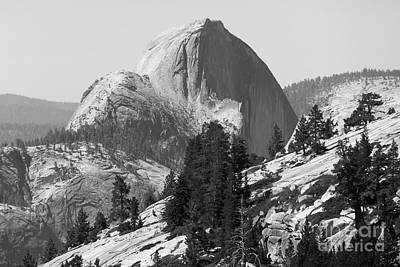 Photograph - Half Dome And Yosemite Valley From Olmsted Point Tioga Pass Yosemite California Dsc04221v2bw by Wingsdomain Art and Photography