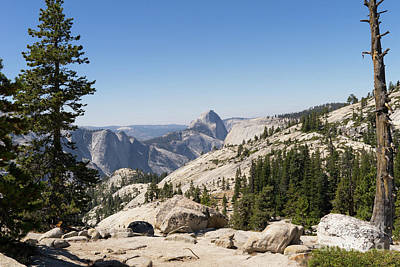 Half Dome And Yosemite Valley From Olmsted Point Tioga Pass Yosemite California Dsc04245 Art Print by Wingsdomain Art and Photography
