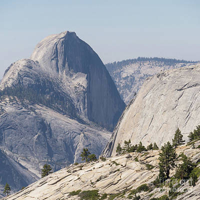 Half Dome And Yosemite Valley From Olmsted Point Tioga Pass Yosemite California Dsc04246sq Art Print by Wingsdomain Art and Photography