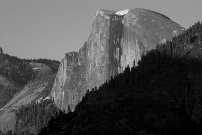Photograph - Half Dome Black And White  by John McGraw