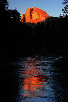 Half Dome From Sentinel Bridge Alpenglow Art Print
