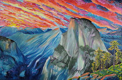Half Dome Painting - Half Dome by Garett Fraser