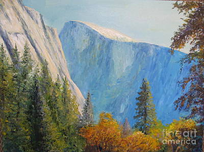 Half Dome Painting - Half Dome In Autumn by Jackie Carroll