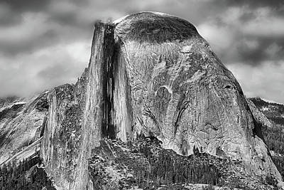 Photograph - Half Dome In Black And White by JC Findley