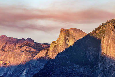 Half Dome In Sunset Art Print