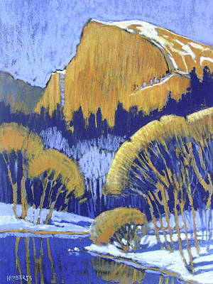 Painting - Half Dome In Winter by Nancy Roberts